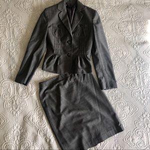 Nine West Gray Pinstripe Skirt Suit